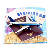 Viagem aérea e euro Imagens de Stock