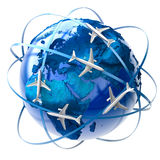 Viagem aérea internacional Fotos de Stock Royalty Free