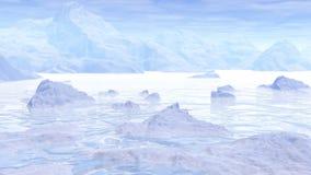 Viagem ao polo - 3D rendem ilustração royalty free