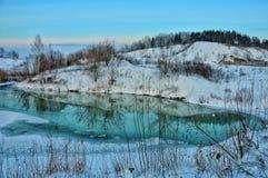 Viagem através de Sibéria reflexão fotografia de stock royalty free