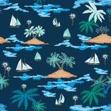 Viagem azul da lagoa ilustração stock
