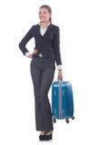 Viagem da mulher de negócios Fotografia de Stock Royalty Free