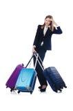 Viagem da mulher de negócios Imagens de Stock