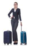 Viagem da mulher de negócios Fotos de Stock Royalty Free