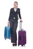 Viagem da mulher de negócios Fotografia de Stock