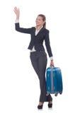 Viagem da mulher de negócios Foto de Stock