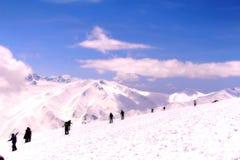 Viagem da neve do curso na Índia de Kashmir Imagens de Stock Royalty Free