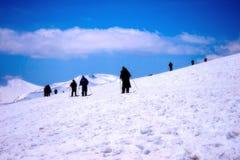 Viagem da neve do curso na Índia de Kashmir Foto de Stock