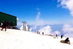 Viagem da neve do curso na Índia de Kashmir Imagem de Stock