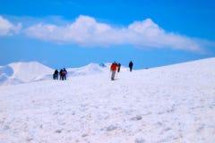 Viagem da neve do curso na Índia de Kashmir Foto de Stock Royalty Free