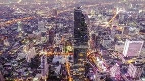 Viagem da noite na cidade de Banguecoque imagens de stock