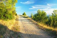 A viagem de Makarska ao longo da costa croata Foto de Stock Royalty Free