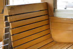 Viagem dentro do trem dos assentos Fotos de Stock Royalty Free