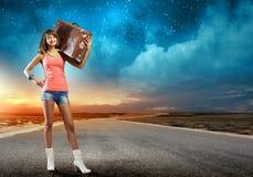 Viagem do Autostop Fotografia de Stock
