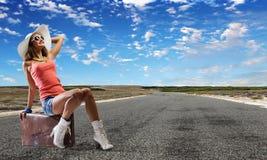 Viagem do Autostop Fotografia de Stock Royalty Free