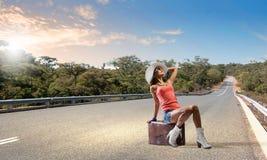 Viagem do Autostop Imagens de Stock