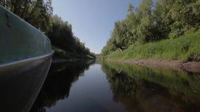 Viagem do barco com o taiga video estoque