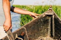 Viagem do barco de enfileiramento do delta de Danúbio Fotografia de Stock Royalty Free