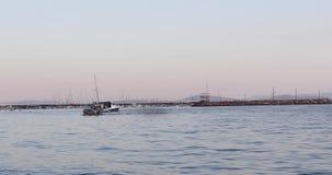 Viagem do barco de pesca video estoque