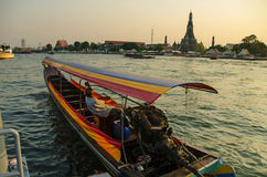Viagem do barco em Banguecoque Foto de Stock Royalty Free