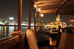Viagem do barco em Dubai Fotos de Stock