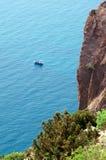 Viagem do barco na superfície Fotografia de Stock