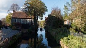 Viagem do barco no rio Stour, Canterbury fotos de stock royalty free