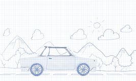 Viagem do carro Imagens de Stock Royalty Free