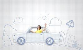 Viagem do carro Fotografia de Stock