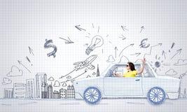 Viagem do carro Imagem de Stock