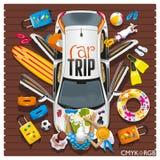 Viagem do carro ilustração stock