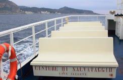 A viagem do navio vazio Foto de Stock