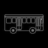 Viagem do ônibus do passageiro ao transporte público da cidade Foto de Stock