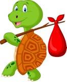 Viagem dos desenhos animados da tartaruga Fotos de Stock Royalty Free
