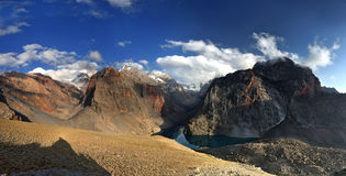 Viagem em Fann Mountains Imagem de Stock