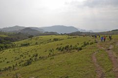 Viagem em montanhas de Simion Fotografia de Stock