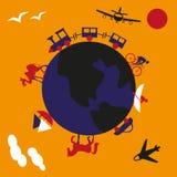 Viagem em torno do mundo Fotografia de Stock Royalty Free