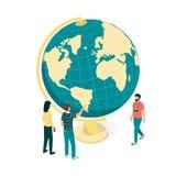 Viagem em torno do mundo ilustração royalty free