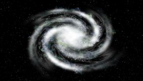 Viagem espacial - aproximação da galáxia da vista lateral ilustração royalty free