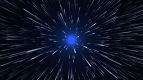 Viagem espacial - velocidade da urdidura ilustração do vetor