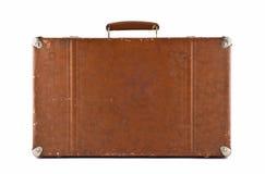 Viagem - mala de viagem antiquado isolada imagens de stock