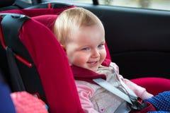Viagem no assento da segurança do carro Imagens de Stock