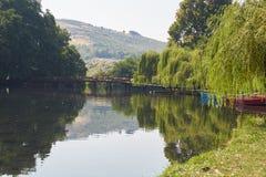 Viagem no lago Ohrid fotografia de stock