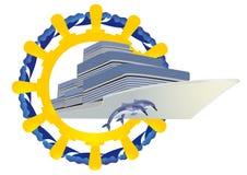 Viagem nos mares ilustração do vetor