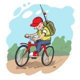 Viagem pela bicicleta ilustração do vetor