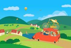 Viagem pelo carro ilustração stock
