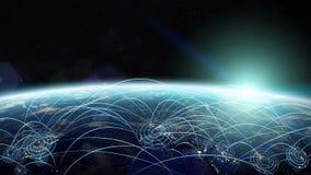 Viagem plana entre países dos elemen da rendição do mundo 3D Imagens de Stock Royalty Free