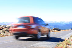 Viagem por estrada às montanhas Foto de Stock Royalty Free