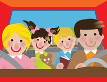 Viagem por estrada ilustração royalty free