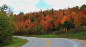 Viagem por estrada da cor da queda Imagens de Stock Royalty Free